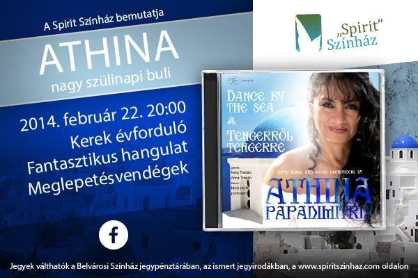 Papadimitriu Athina 65! – ünnepi est a művésznő születésnapjának tiszteletére