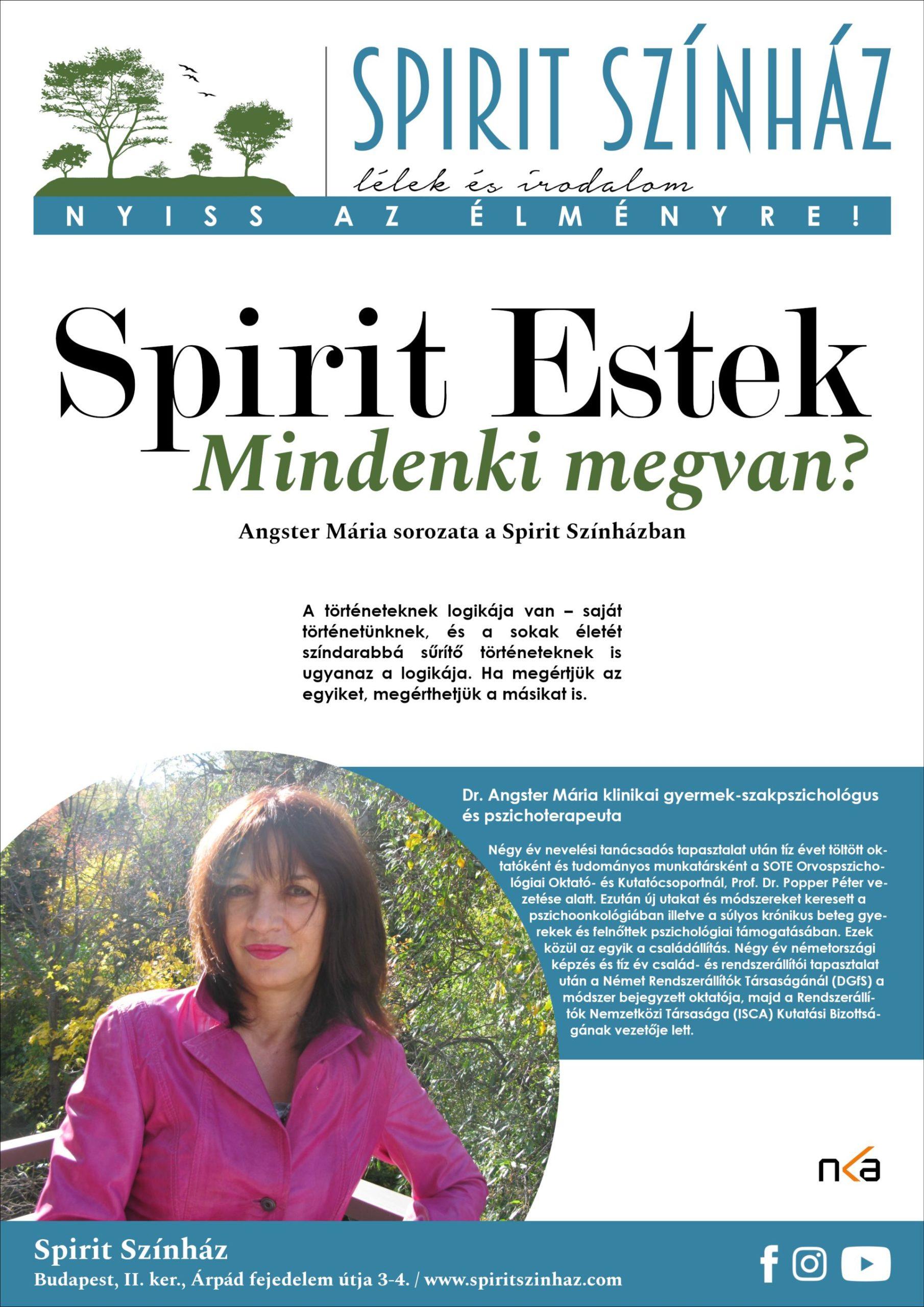 Spirit Estek: Mindenki megvan? – Angster Mária sorozata